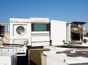 Kitchen Appliance Garbage towards blue sky
